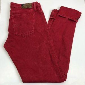 Denim & Supply RL Red Skinny Jeans Sz 28 ::F21
